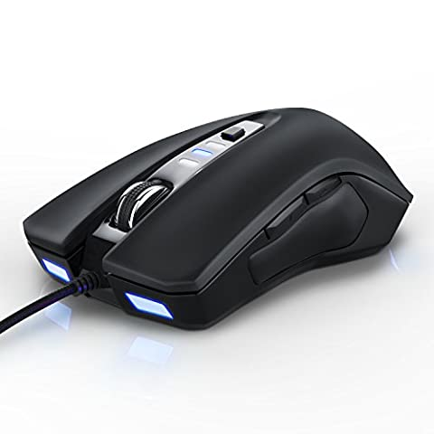 CSL - optische Maus 3000dpi | 3000 dpi Abtastrate High Precision / PC USB optical Mouse LED | ergonomisches Design | Farbe: schwarz