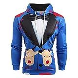 Männer Volle Sleeved Hoodies Mann Weihnachten Pullover Mode Anzug Muster 3D Print Langarm Hoodie Caps Slim Fit Sweatshirt T-Shirt Moonuy