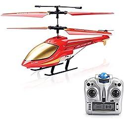 Helicóptero RC ,Helicóptero Control Remoto Indoor 3.5 Canales con Giroscopio Juguete de Regalo para niños (Color 2)