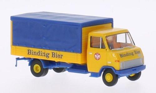 Hanomag-Henschel F55, Binding Bier, Modellauto, Fertigmodell, Brekina 1:87