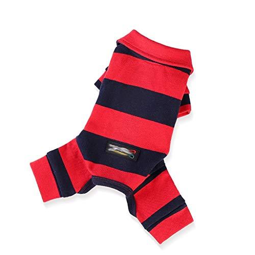 QLMS Hundekleidung Teddybär Xiong Chunqiu Xue Narui Bomei Sommerkleid Vier Meter dünner Abschnitt Kleiner Hund Haustier Frühling Sport (Color : Red, Size : L) (Red Hat Blue Shirt Kostüm)