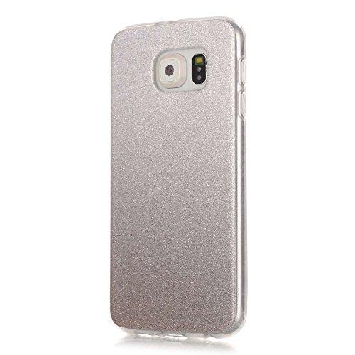 TPU Coque Galaxy S6,Housse Slim Coque Transparent Etui, Case Souple TPU Bumper Protective Cover Skin, Crystal Clear Couverture Arrière Etui de Protection Case Anti Rayure Anti Choc pour Samsung Galaxy S6 +Bouchons de poussière (13RR)