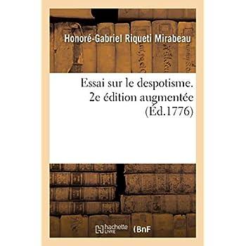 Essai sur le despotisme. 2e édition augmentée