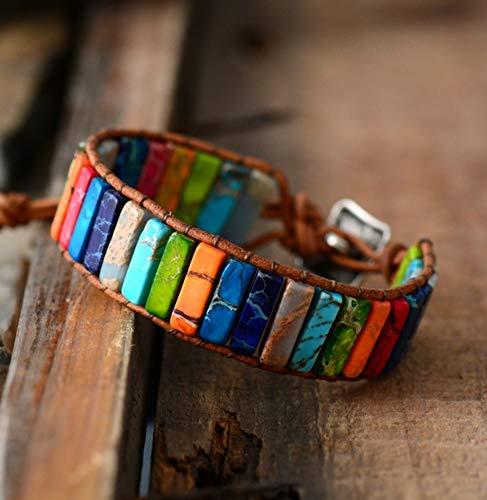 BANGLEW Armband Frauen Männer Männer Frauen Armreifen Perlen Armbänder Handgemachten Schmuck Armband Natürliche Edelstein Armbänder