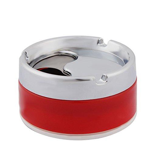 Preisvergleich Produktbild sourcingmap Haushalt Zylinder Form 3 Rille Design Zigarette Halter Aschenbecher Halter Rot