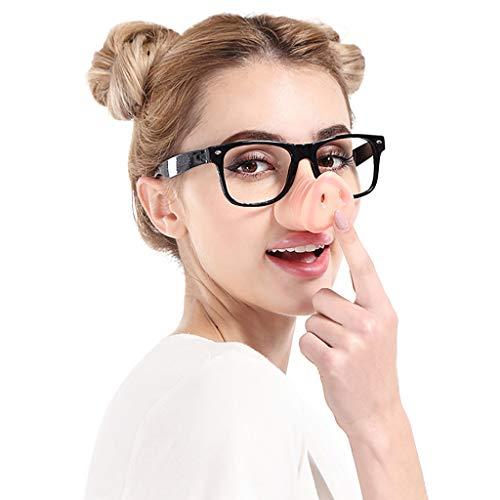 EUCoo Sonnenbrille Modeparty Lustiger Hip-Hop Necken Der Schweinennasen Brillenglasrahmen FäNgt GläSer(A)