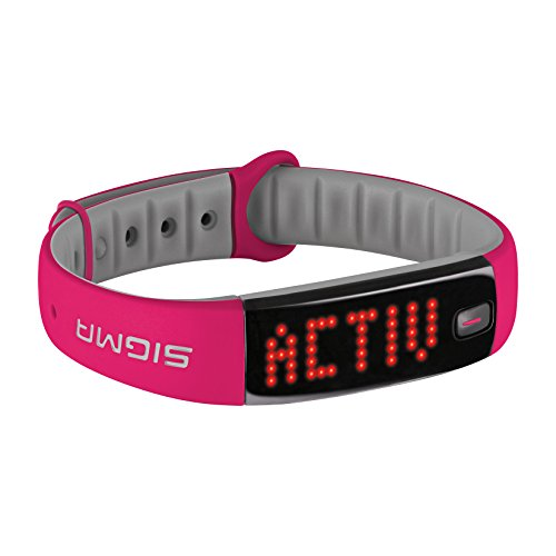 Fahrrad-training Stehen (Sigma Activity Tracker ACTIVO, berry pink, 22912)