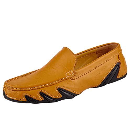 Mocassini Uomo Pelle Estivi Pantofole Casual Eleganti Slip On Scarpe da Guida Scarpe da Barca Loafers Le Scarpe Selvagge Preferite dello Zio di Mezza età in Stile Britannico