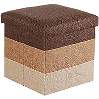 Preisvergleich für Lagerung Hocker LXF Faltbarer Speicher-Schemel-Osmane-Sitz-Speicher-Spielzeug-Kasten-Bank Mit Deckel Scherzt Spielzeug-Schuh-Kasten 30 * 30 * 29 (Farbe : Brown)
