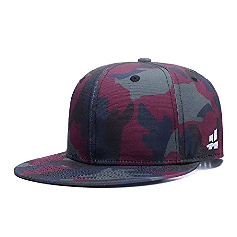 Hatrita-J New Camouflage Baseball Cap ,Classic Army Color Camo Mens Adjustable Snapback Womens Flat Bill Brim Trucker Hat ,Color