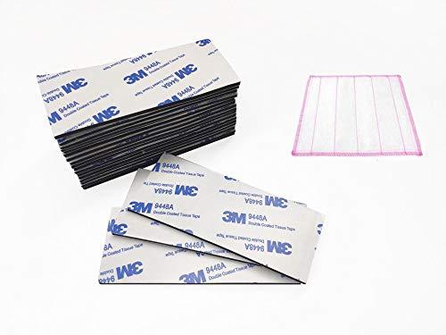 20 Stück Nummernschild-Aufkleber, doppelseitiges Schaumstoff-Pad für Autokennzeichen, Hauswände, Tür + 1 saugfähiges Reinigungstuch aus Baumwolle -