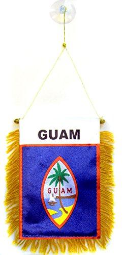 AZ FLAG Fanion Guam 15x10cm - Mini Drapeau américain 10 x 15 cm spécial Voiture - Bannière