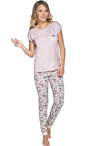 Italian Fashion Jowita Charmant Et Confortable Pyjama – Fabriqué En UE Rose