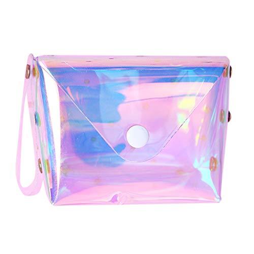 HROIJSL Frauen Geldbörsen Short Damen Fashion Mini Jelly Lucency Geldbörse Kartenhalter Tasche Gitter Design Geometrische Tasche Einzigartige Geldbörsen Mininetz verschiedenen -