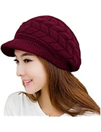 Amazon.es  Rojo - Gorros de punto   Sombreros y gorras  Ropa 6e94ccb5123