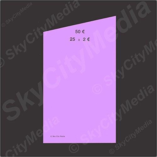 Münzrollpapier für Euro Münzen je 50x ( 2,00  Papier) für Geldrollen / Rollgeld Münzrollenpapier / Handrollpapier / NEU