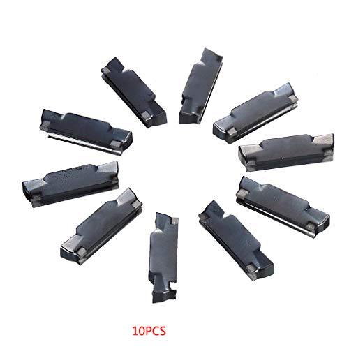 Fornateu 10Pcs MGMN400-M 4.0mm Carbide Meisseleinsätze Ersatz für MGEHR/MGIVR Einstechen Cut Off-Tool -