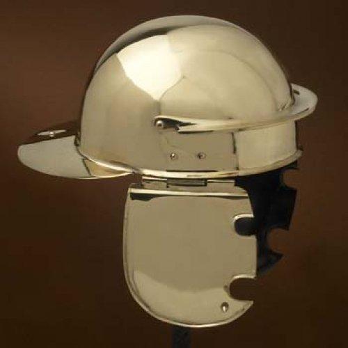 Römischer Helm Typ Coolus C aus Schaan, Messing Dekohelm schaukampftauglich Ritterhelm LARP Wikinger