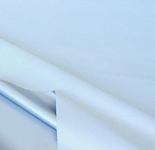 mittelschwerer Verdunklungs-Stoff in Eis Blau als Meterware - mit beschichteter Thermo-Rückseite - Licht u Wärme reflektierend - 150cm breit