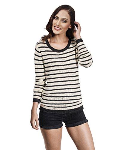 VB-Maglione da donna Loose maglia con strisce Anthracite Medium