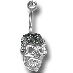 Con cristales Swarovski - Crystal Skull Titanium Bananabell