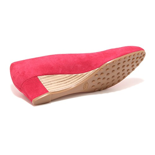 96617 decollete TOD'S ZEPPA GOMMA T35 scarpa donna shoes women Rosso