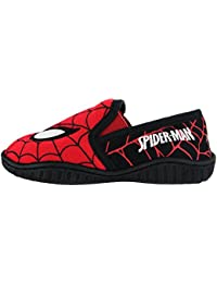 Spiderman Morice Web Print Red Slippers Various Sizes