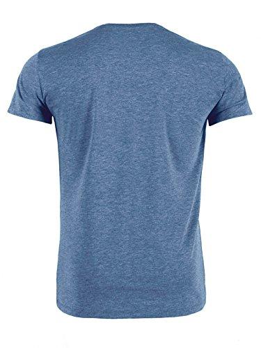 YTWOO Herren Rundhals Tshirt Aus 100% Bio-Baumwolle- in Diversen Farben Schwarz und Weiß bis 2XL - Organic, Herren Bio Shirt, Herren Bio T-Shirt Heather Blue