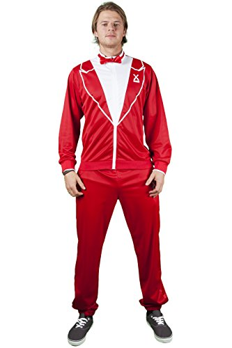 Red Tuxedo Kostüm - Traxedo THE RED DRAGON Costume (Between Tuxedo and a tracksuit) Adult Fancy Dress