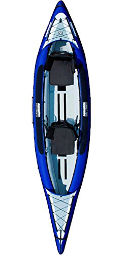 Aquaglide Inflatable Kayak Columbia Two XP Canoe 409 cm x 91 cm L B Airboat 2 People