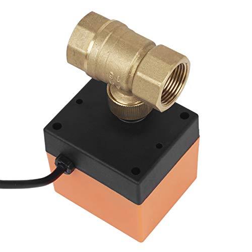 Miafamily Elektrisches Ventil Absperr Umschalt Kugelventil Messing Absperrhahn 2 Wege,DN20 G3/4 Zoll, AC 230V, für Flusssteuerung Zonenventil Kugelventil