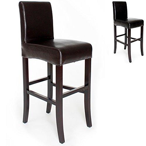 TecTake Sgabelli da bar design noir sgabello 111cm - disponibile in diversi colori - (Marrone)