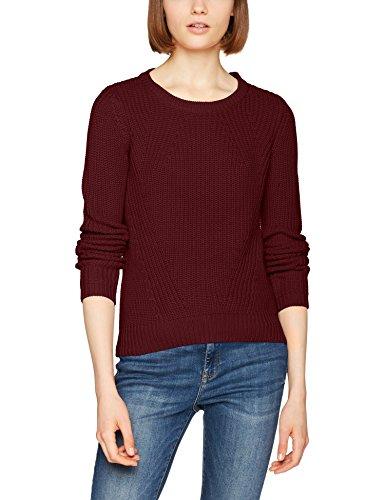 VERO MODA Damen Pullover Vmlex LS Blouse Noos, Rot (Zinfandel), 40 (Herstellergröße: L) - Strickmuster Damen-pullover