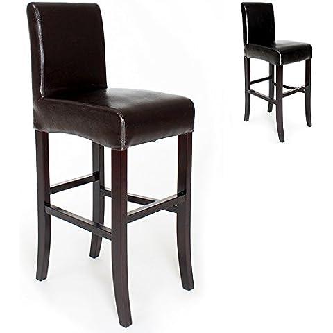 TecTake Sgabelli da bar design noir sgabello 111cm - disponibile in diversi colori -