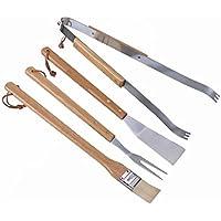 Barbecue 4 Pcs Set In Brush, fork, spatula and tongs by Hari - Spatola Tong