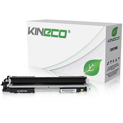 Kineco Toner kompatibel zu HP CE310A 126A für HP LaserJet Pro 100 Color MFP M175, LaserJet Pro M 275, Color LaserJet Pro CP1025nw, CP1028nw - Schwarz 1.200 Seiten
