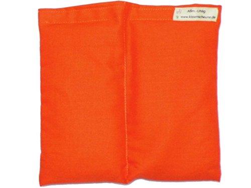 Preisvergleich Produktbild Körnerkissen Weizen 20x20cm orange Wärmekissen