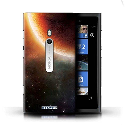 Kobalt® Imprimé Etui / Coque pour Nokia Lumia 800 / Planète Orange conception / Série Cosmos Éclipse Orange