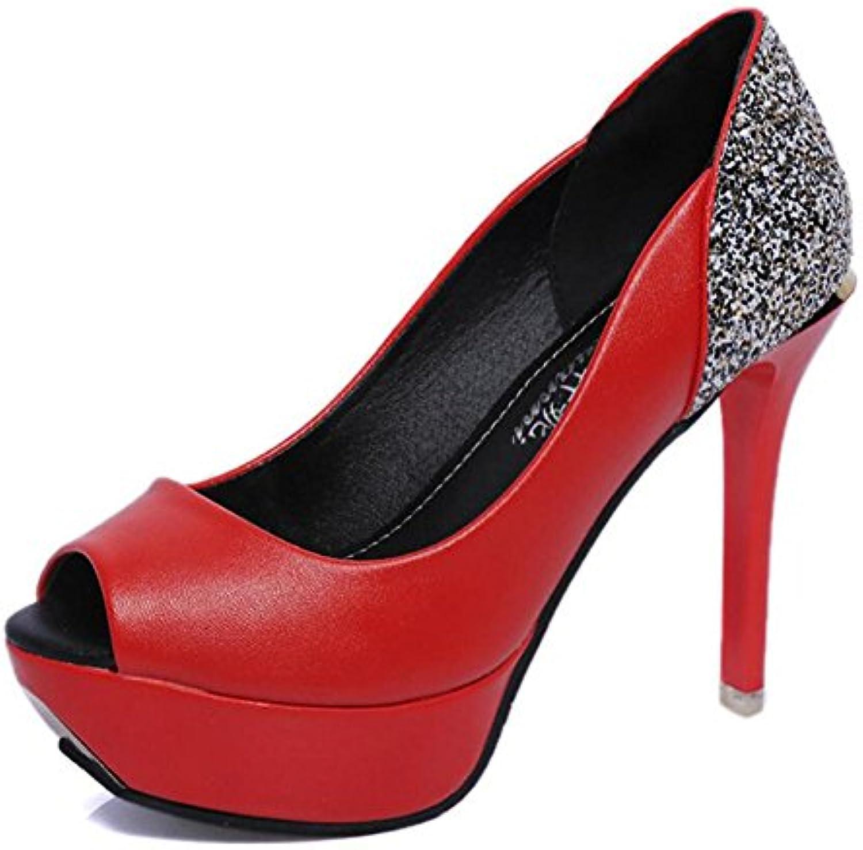 Zapatos de mujer Cuero artificial Primavera Verano Tacones con tachuelas Tacones con punta abierta Punta redonda...