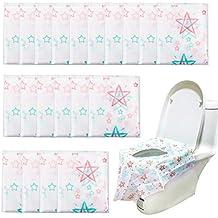 Homgaty - Juego de 20 protectores desechables para asiento de inodoro para niños