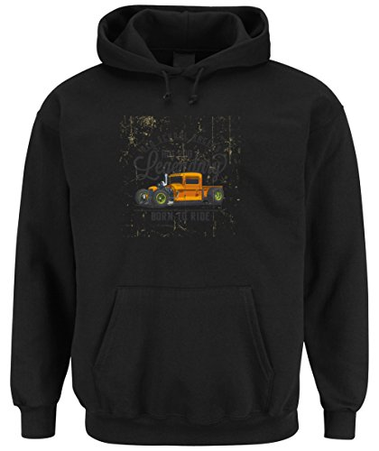 Old School Racers Hooded Sweater Black Certified Freak-XXL (Camaro Hoodie)