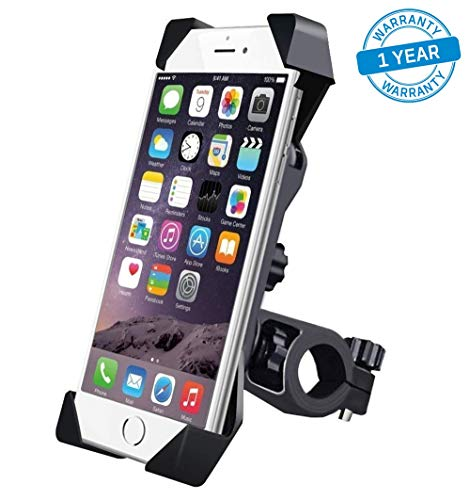 Azacus Bike Holder for Mobile Phone Universal 360 Degree Rotating Bicycle, Motorcycle Cradle Mount Holder for All Mobiles