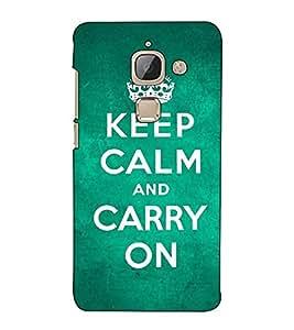 Fuson Designer Back Case Cover for LeEco Le 2s :: LeEco Le 2 Pro :: LeTV 2 Pro :: Letv 2 :: LeEco Le 2 (Keep calm and carry on theme)