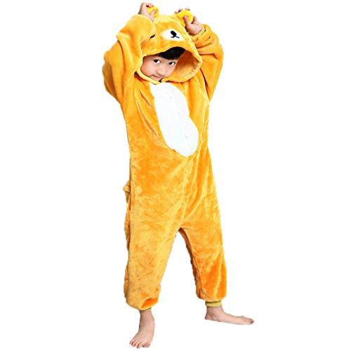 Z-chen pigiama tutina costume animale, bambina e bambino, orso, 2-3 anni