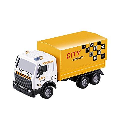 Pinzhi Bau Fahrzeuge Technik Fahrzeuge Set Original Farbe Mini-Modell Bau Autos Spielzeug für Kinder Jungen Mädchen Kleinkinder (Color4)