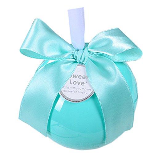 Autulet diy Babypartybevorzugungen einzigartige Babypartygeschenke Mittelstücke mit blauen Band um Süßigkeiten Box 20pieces