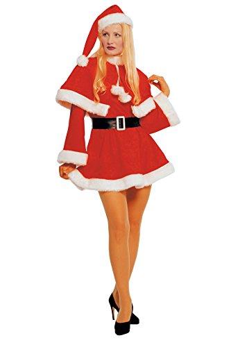 tüm Nikolaus Damen Weihnachten (Mrs Santa Halloween Kostüm)