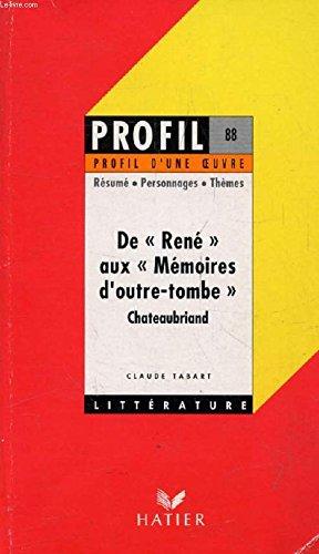 De René aux mémoires d'outre-tombe, Chateaubriand : analyse critique
