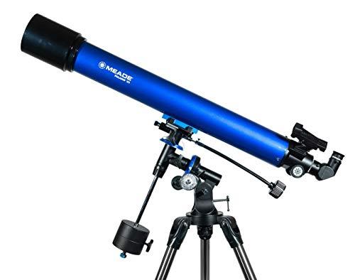 Meade Teleskop AC 90/900 Polaris EQ, Fernrohr für die Astronomie mit 90mm Öffnung und 900mm Brennweite -