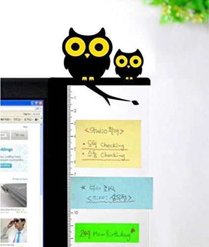 aimeio Creative Cartoon Computer Monitor Nachricht Board Seite Panel Memo stciky Notes Board, 30cm 7,9cm Rechte Seite, 2Stück - Fly Away Halter
